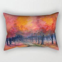 Nighttime Autumn Landscape Nature Art Rectangular Pillow