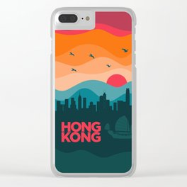 Vintage Travel: Hong Kong Clear iPhone Case