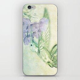 Hummingbird Kisses iPhone Skin