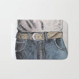 Blue jeans Bath Mat