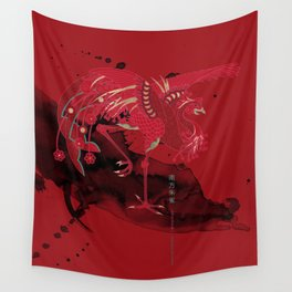 Vermilion Bird of the South Wall Tapestry