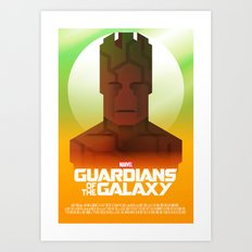 Guardians of the Galaxy - Groot Art Print