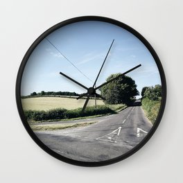 junction in the countryside Wall Clock
