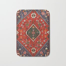 N65 - Colored Floral Traditional Boho Moroccan Style Artwork Bath Mat