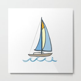 Lake Tahoe Sail On Metal Print