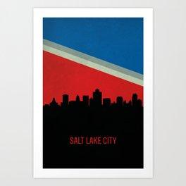 Salt Lake City Skyline Art Print