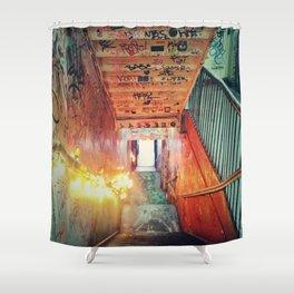 kiosk nyc Shower Curtain