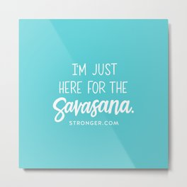 Savasana Metal Print