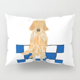 Golden Retriever Wants A Walk Pillow Sham
