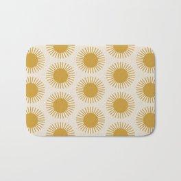 Golden Sun Pattern Bath Mat