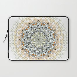 Overlapping Bee Mandala (Color) Laptop Sleeve