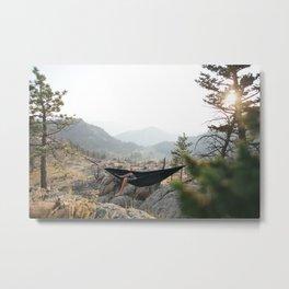 Hammock Hangs Metal Print