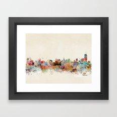 manchester england skyline Framed Art Print