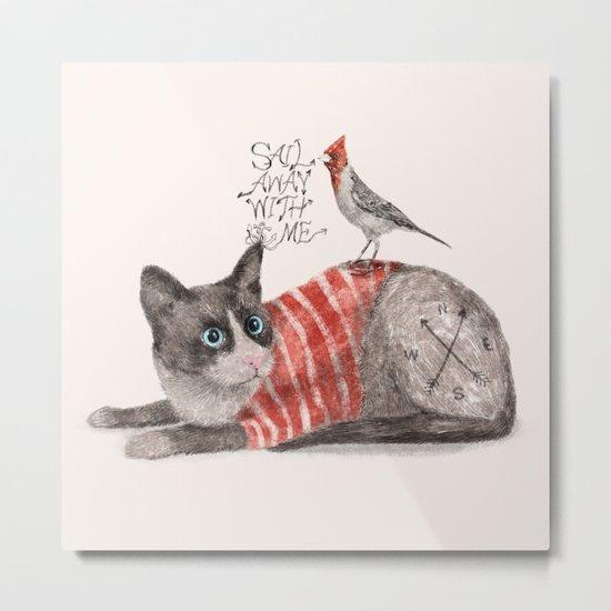 Snowshoes & Littlebird Metal Print