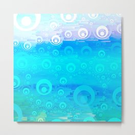 Blue Sky Bubble Pattern Metal Print