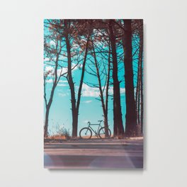Fixie on the beach - Art Print Metal Print