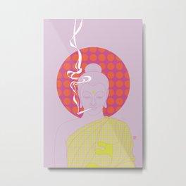 Buddha : Give Peace a Chance! (PopArtVersion) Metal Print