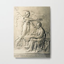 Lincoln Medal Metal Print