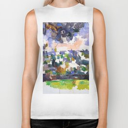 1906 - Paul Cezanne - The Garden at Les Lauves Biker Tank
