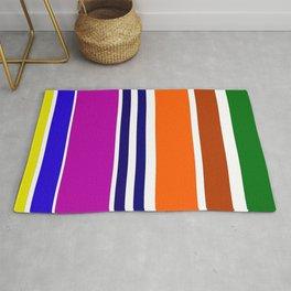 Warm Color Rhythm Rug