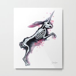 Unicorn Bunny Metal Print