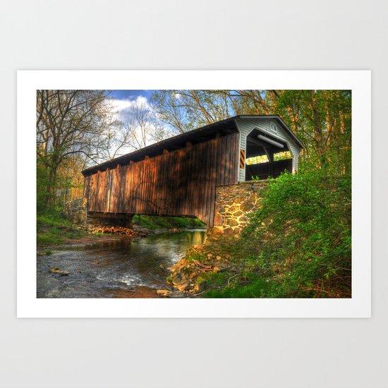 Glen Hope Covered Bridge Art Print
