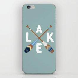 LAKE LIFE Painted Paddle Oars iPhone Skin
