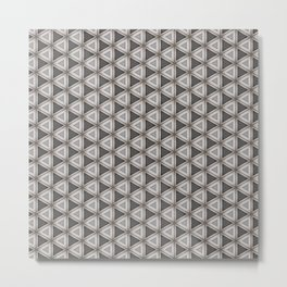 Chrome steel with leather effect pattern Metal Print