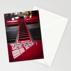 Ferrari behind. Stationery Cards