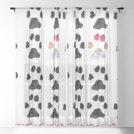Adopt. Dont. Shop. Typography Sheer Curtain