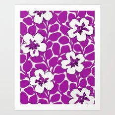 Painted Floral Magenta Art Print