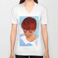 ginger V-neck T-shirts featuring Ginger by Adelys