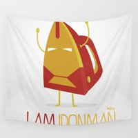 ironman Wall Tapestries featuring I Am Ironman by BajuKhaju