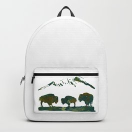 Buffaloes in Nature Scenery Backpack