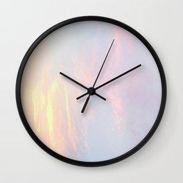 pastel skies Wall Clock