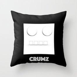 CRUMZ - Silly Robot - Bad Robot Throw Pillow