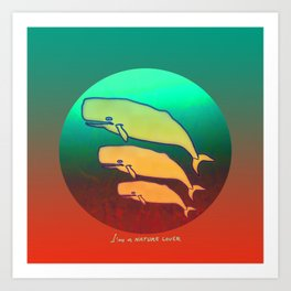 Nature Lover / Whales Art Print