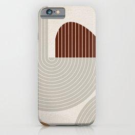 Mid Century Line Art VI iPhone Case