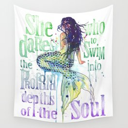 Mermaid : Profound Depths Wall Tapestry