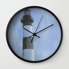 Bodie Island lighthouse at sunset in the Outer Banks (OBX) of North Carolina- USA Wall Clock