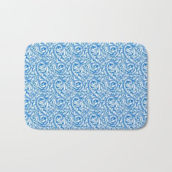 Blue Swirls Bath Mat