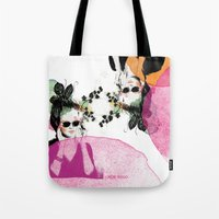 sunglasses Tote Bags featuring Sunglasses by Lorene R illustration