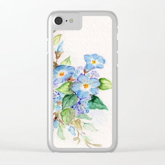 Heavenly Blues Clear iPhone Case