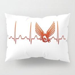 Aircraft Mechanic Heartbeat Pillow Sham