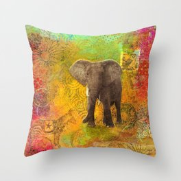 The Elephant in my Dream Throw Pillow