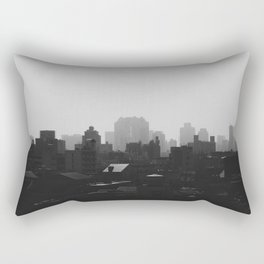 Black and White city Rectangular Pillow