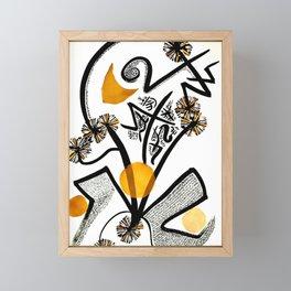Dandelion Dances Framed Mini Art Print