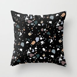 Black Liquorice Throw Pillow