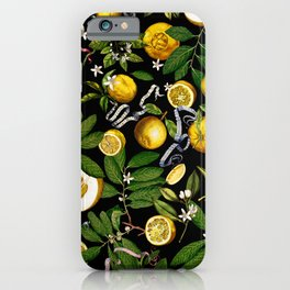 LEMON TREE Black iPhone Case