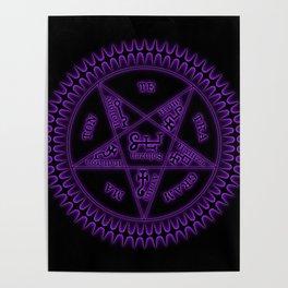 Sebastian Michaelis Sigil Dark (black bg) Poster